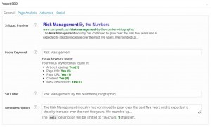 Here's a screenshot of Yoast from our Risk Management blog post.